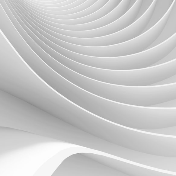 White wave-like abstract forms.