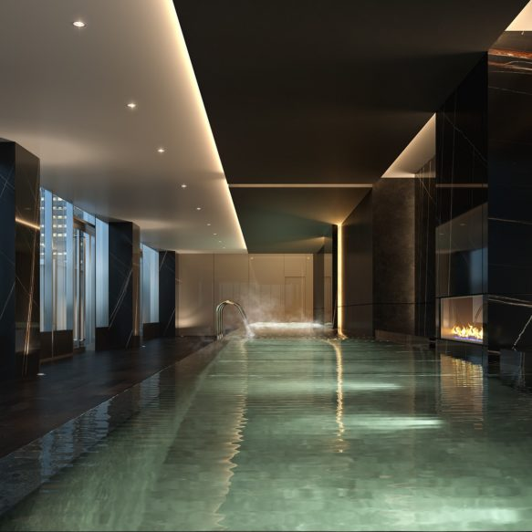 Indoor/Outdoor Infinity Pool
